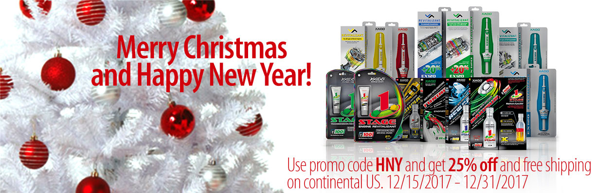 Merry Christmas and Happy New Year! Use promo code HNY and get 25% off and free shipping on continental US. 12/15/2017 - 12/31/2017