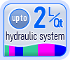 Up to 2L/Qt hydraulic system